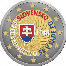 Slowakije 2 Euro 2016 Voorzitterschap EU Gekleurd