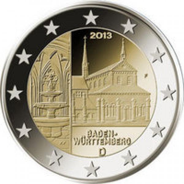 duitsland 2 euro 2013 maulbronn baden w rttemberg. Black Bedroom Furniture Sets. Home Design Ideas