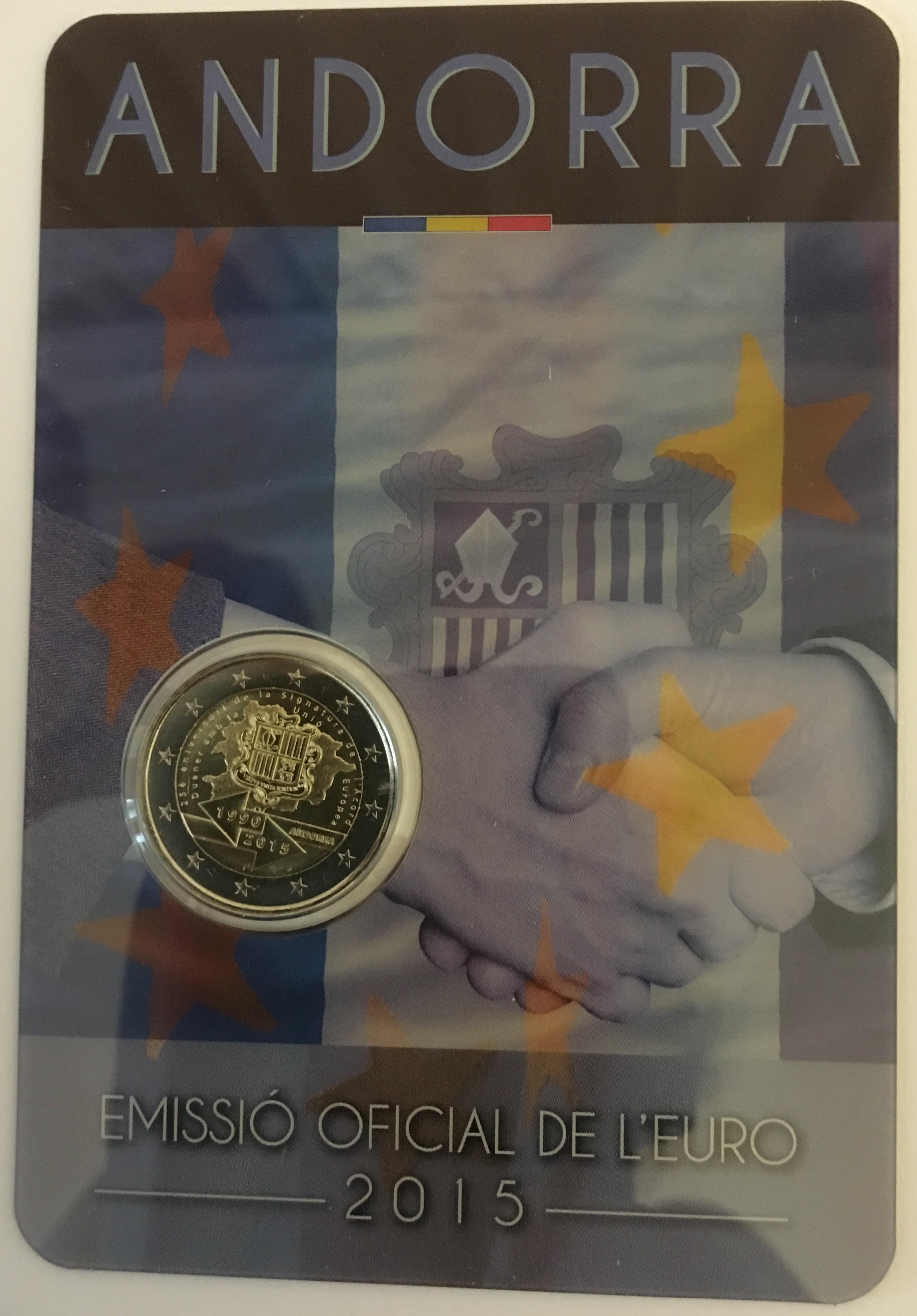 Andorra 2 euro 2015 douane unie andorra landen for Douane engels