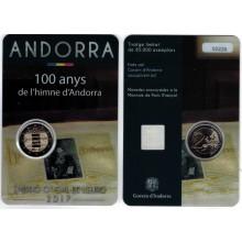 Andorra 2 Euro 2017 100 Jaar Volkslied