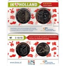 Nederland 2 Euro 2018 Coincard Nr. 5 Tulpen