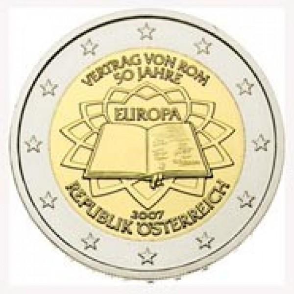 Oesterreich 2 Euro 2007 50 Jahre Vertrag Von Rom 2 Euro Münzen