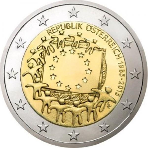 österreich 2 Euro 2015 30 Jahre Europaflagge 2 Euro Münzen