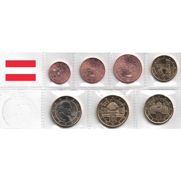 Oesterreich Unc 2018 7 Münzen Länder Eurocoinhouse