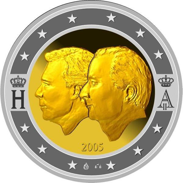 Belgien 2 Euro Sondermünze 2005 Wirtschaftliche Union Belgien