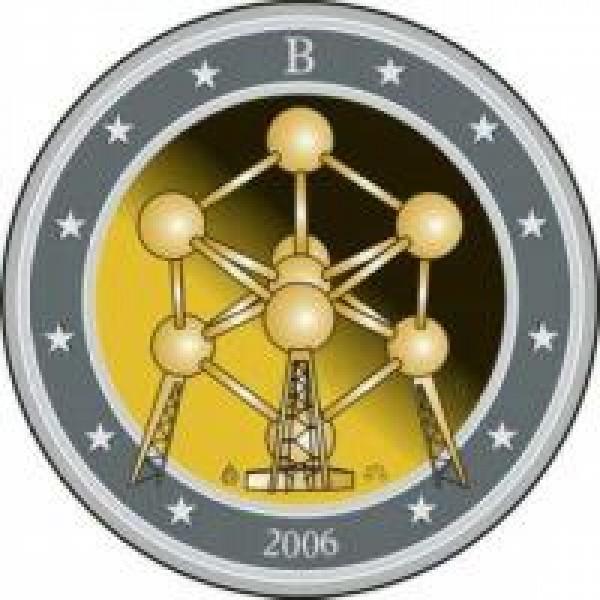Belgien 2 Euro Sondermünze 2006 Wiedereröffnung Des Atomiums 2