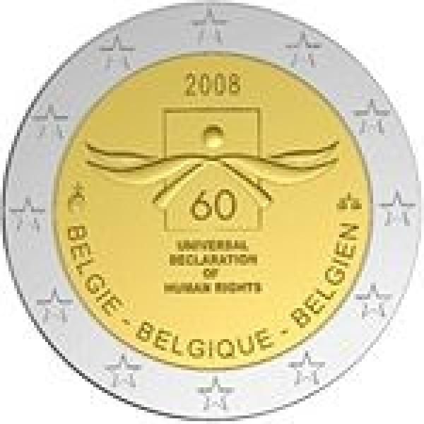 Belgien 2 Euro Sondermünze 2008 60 Jahre Deklaration Der