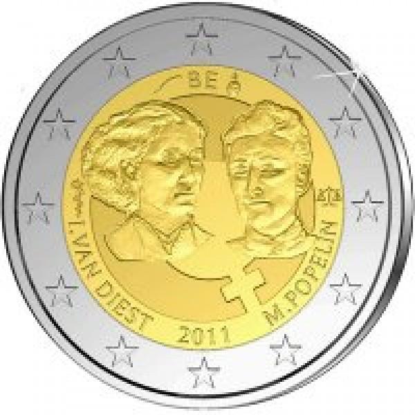 Belgien 2 Euro Gedenkmünze 2011 100 Internationaler Frauentag 2