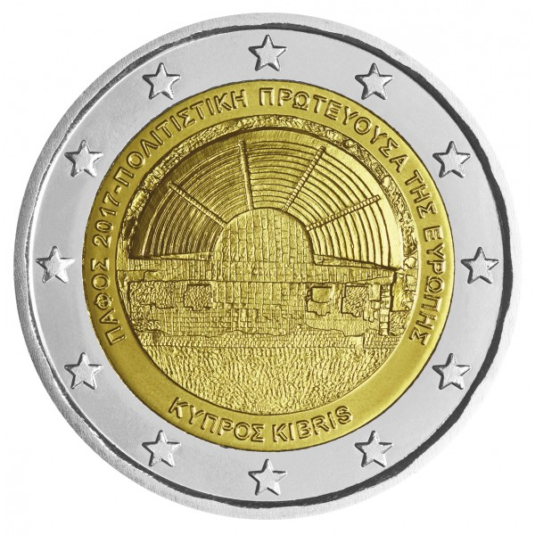 Zypern 2 Euro 2017 Paphos 2 Euro Münzen Eurocoinhouse
