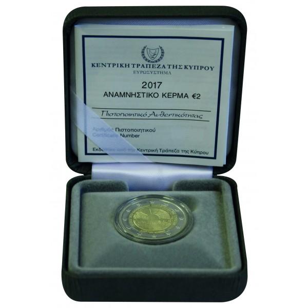 Zypern 2 Euro 2017 Paphos Pp 2 Euro Münzen Eurocoinhouse