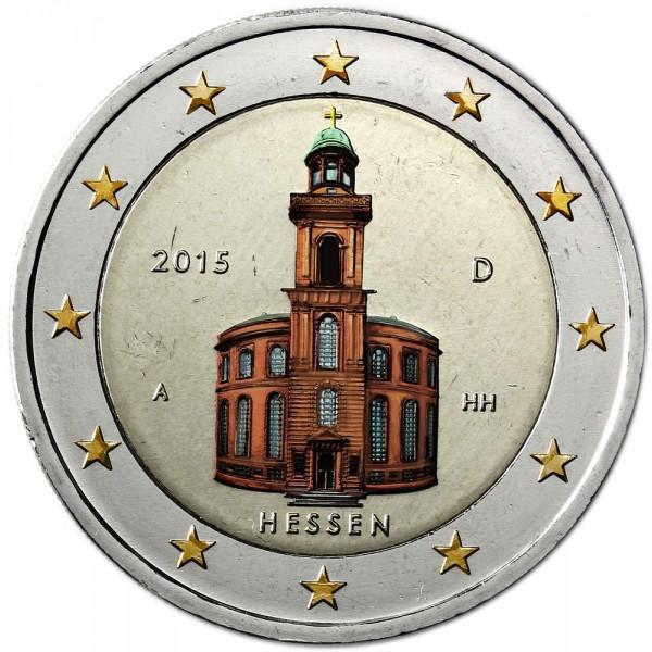 Deutschland 2 Euro 2015 Hessen Pauls Kirche Farbig Farbige 2 Euro