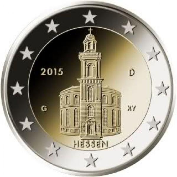 Deutschland 2 Euro 2015 Hessen Paulskirche 2 Euro Münzen