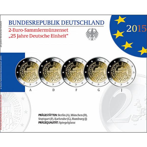 Deutschland 2 Euro 2015 Deutsche Einheit Proof Serie 2 Euro