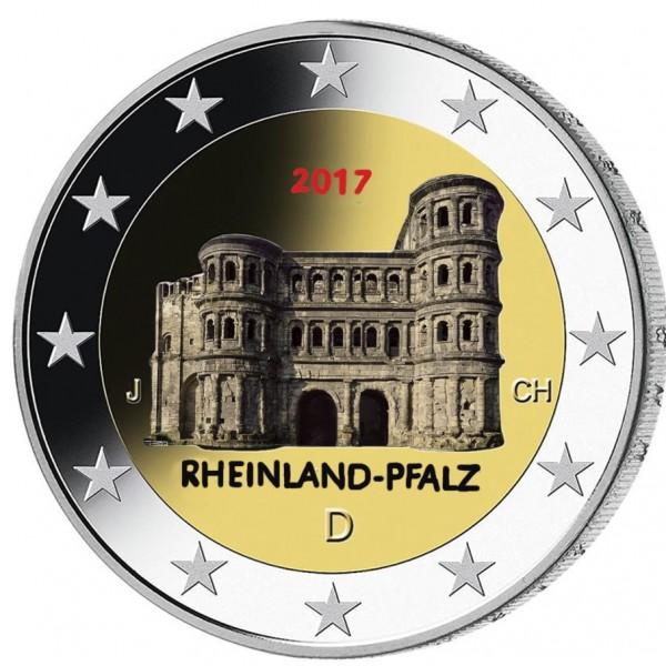 Deutschland 2 Euro 2017 Porta Nigra Farbig Farbige 2 Euro Münzen