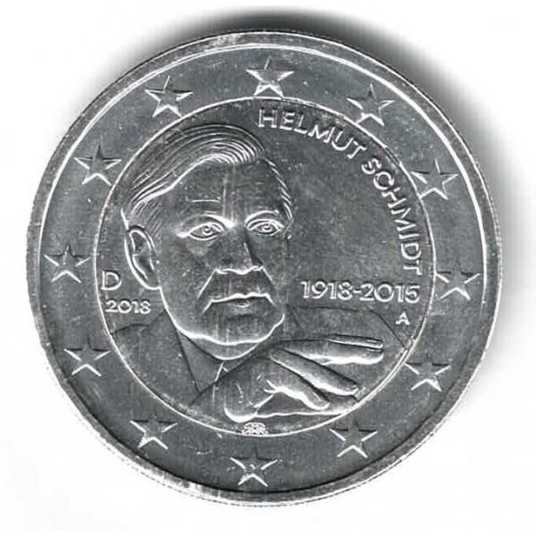 Deutschland 2 Euro 2018 Helmut Schmidt Versilbert 2 Euro Münzen