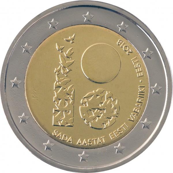 Estland 2 Euro 2018 100 Jahre Unabhängigkeit 2 Euro Münzen