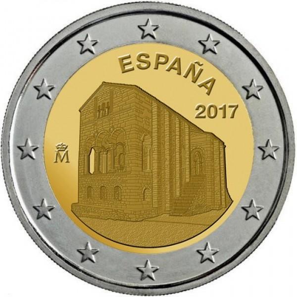 Spanien 2 Euro 2017 Asturien Santa Maria Del Naranco 2 Euro Münzen