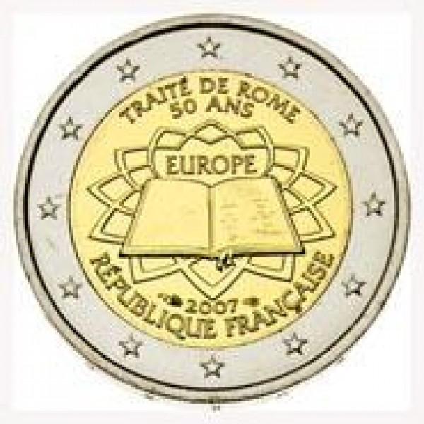 Frankreich 2 Euro 2007 Römische Verträge 2 Euro Münzen Eurocoinhouse