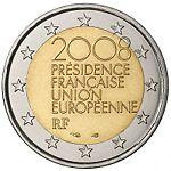 Frankreich 2 Euro 2008 Vorsitz Im Rat Der Eu 2 Euro Münzen