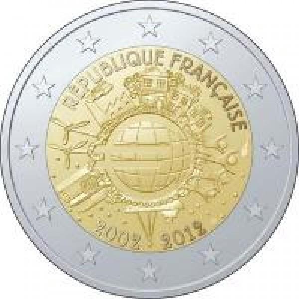 Frankreich 2 Euro 2012 10 Jahre Euro Bargeld 2 Euro Münzen