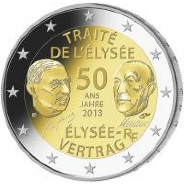 Frankreich 2 Euro 2013 50 Jahre élysée Vertrag Eurocoinhouse