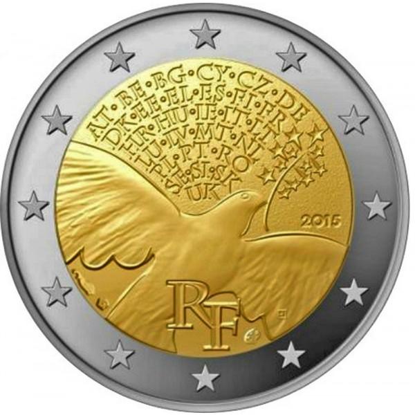 Frankreich 2 Euro Gedenkmünze 70 Jahre Frieden In Europa 2 Euro