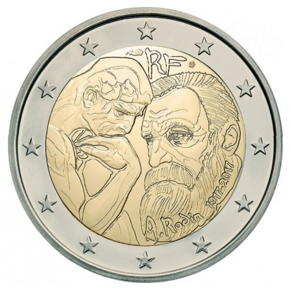 Frankreich 2 Euro 2017 Aguste Rodin 2 Euro Münzen Eurocoinhouse
