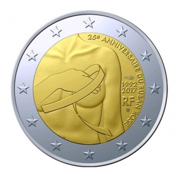 Frankreich 2 Euro 2017 Brustkrebs 2 Euro Münzen Eurocoinhouse