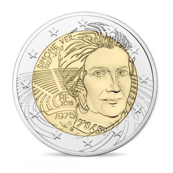 Frankreich 2 Euro 2018 Simone Veil 2 Euro Münzen Eurocoinhouse