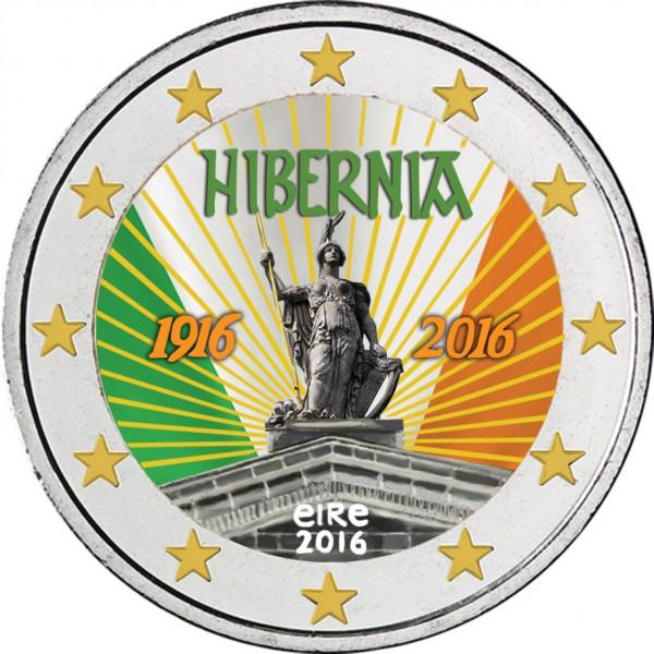 Irland 2 Euro 2016 Osteraufstand Farbig Farbige 2 Euro Münzen