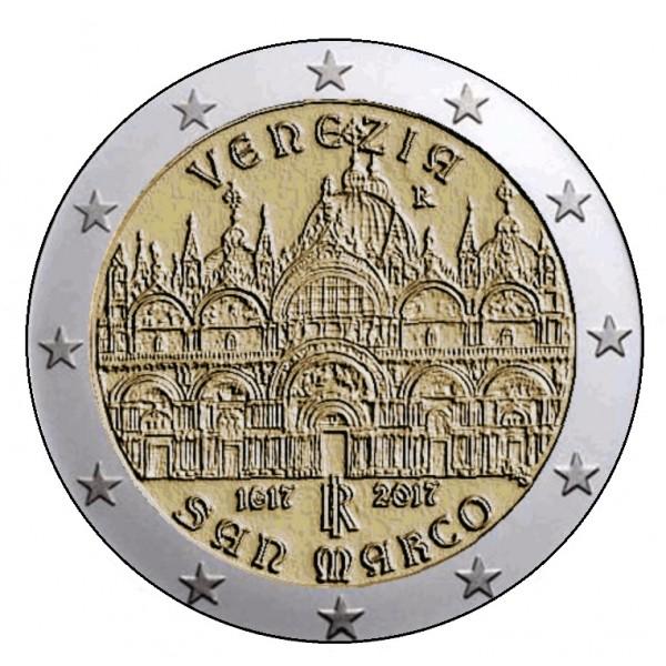 Italien 2 Euro 2017 Markusdom Venedig 2 Euro Münzen Eurocoinhouse