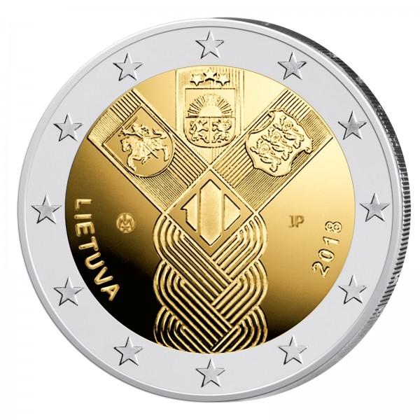 Litauen 2 Euro 2018 Baltische Unabhängigkeit 2 Euro Münzen