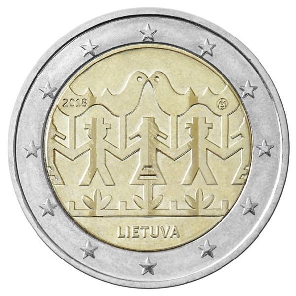 Litauen 2 Euro 2018 Muzik Und Tanzfestival 2 Euro Münzen