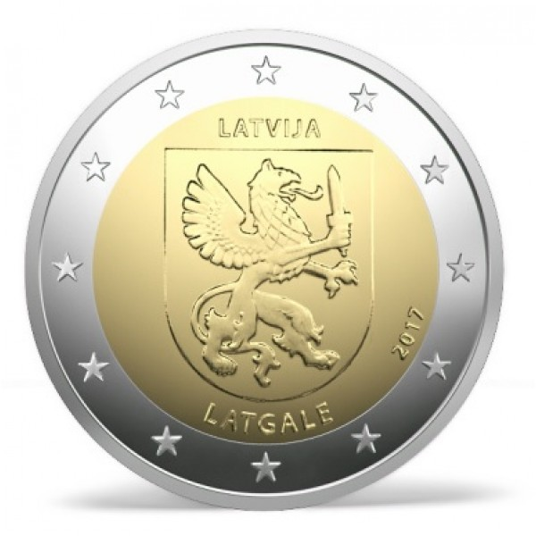Lettland 2 Euro 2017 Lettgallen 2 Euro Münzen Eurocoinhouse