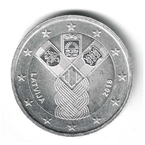 Lettland 2 Euro 2018 Baltische Unabhängigkeit Versilbert 2 Euro