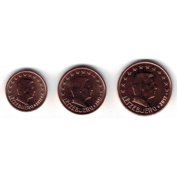 Luxemburg 1 Cent 2 Cent 5 Cent 2017 Eurocoinhouse