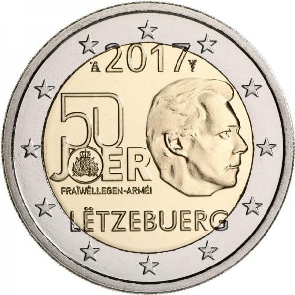 Luxemburg 2 Euro 2017 50 Jahre Freiwillige Armee 2 Euro Münzen