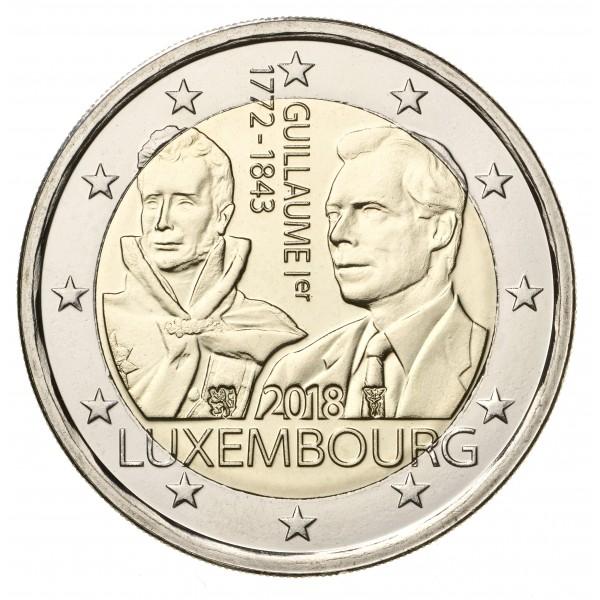 Luxemburg 2 Euro 2018 Wilhelm I 2 Euro Münzen Eurocoinhouse