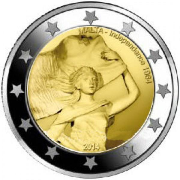 Malta 2 Euro 2014 50 Jahre Unabhängigkeit 1964