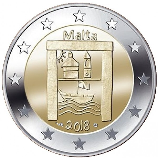 Malta 2 Euro 2018 Kulturerbe Mit Münzzeichen