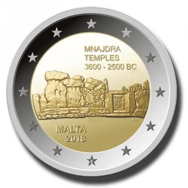 Malta 2 Euro 2018 Mnajdra Tempel Mit F Im Stern