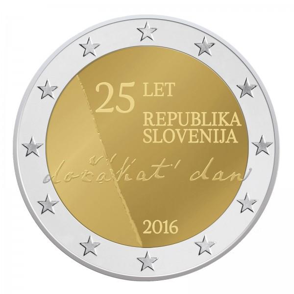 Slowenien 2 Euro 2016 25 Jahrestag Der Unabhängigkeit 2 Euro