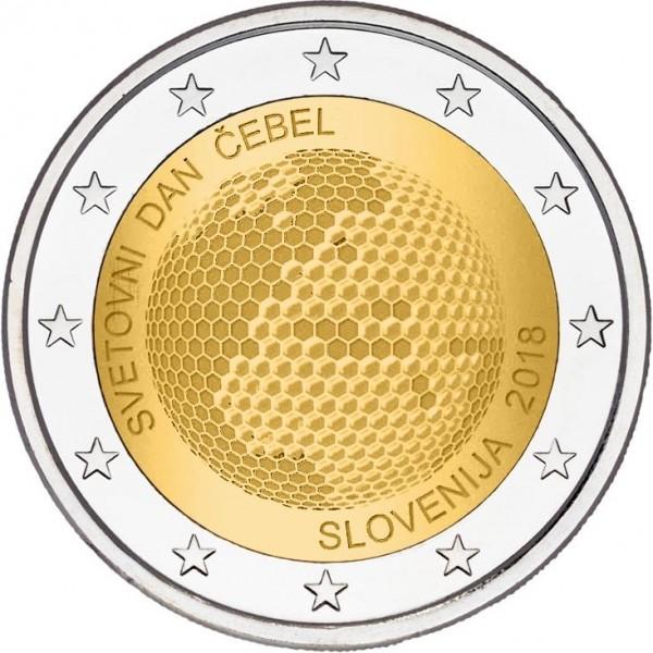 Slowenien 2 Euro 2018 Weltbienentag 2 Euro Münzen Eurocoinhouse