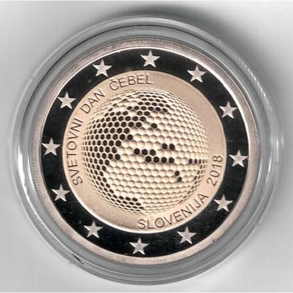 Slowenien 2 Euro 2018 Weltbienentag Pp 2 Euro Münzen Eurocoinhouse