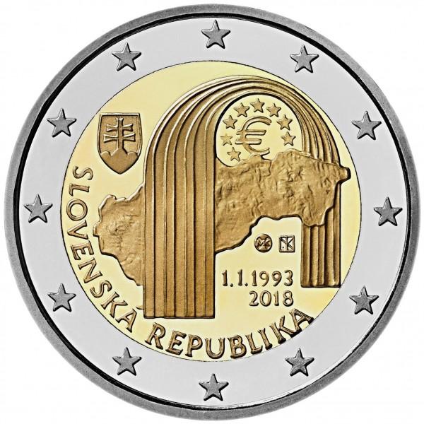 Slowakei 2 Euro 2018 25 Jahre Slowakei 2 Euro Münzen Eurocoinhouse