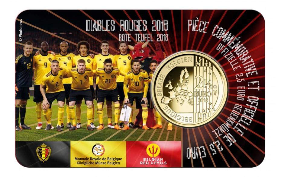 Belgien 25 Euro 2018 Coincard Rote Teufel Niederländisch