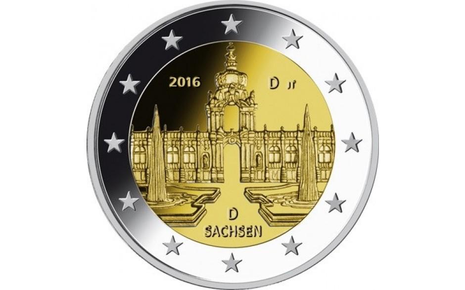 deutschland 2 euro 2016 dresdner zwinger sachsen deutschland l nder eurocoinhouse. Black Bedroom Furniture Sets. Home Design Ideas