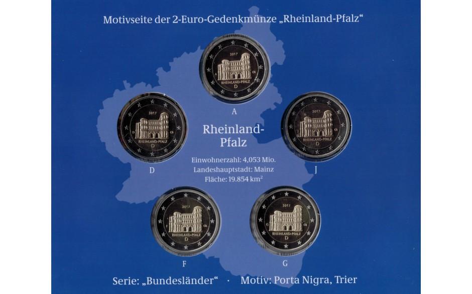 Deutschland 2 Euro 2017 Rheinland Pfalz Porta Nigra Pp 2 Euro