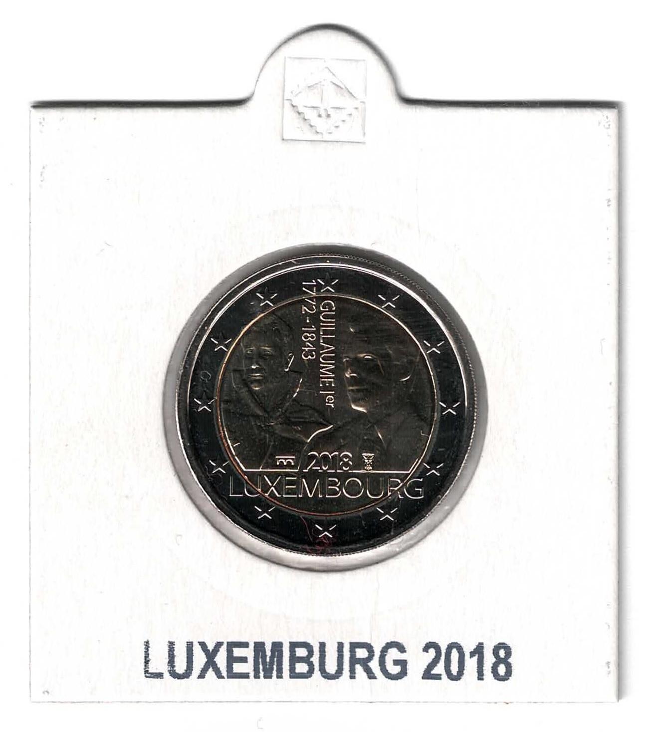 Luxemburg 2 Euro 2018 Wilhelm I Servaasbrücke In Münzenrämchen 2