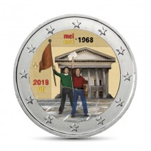 Farbige 2 Euro Münzen Für Sammler Belgien Eurocoinhouse